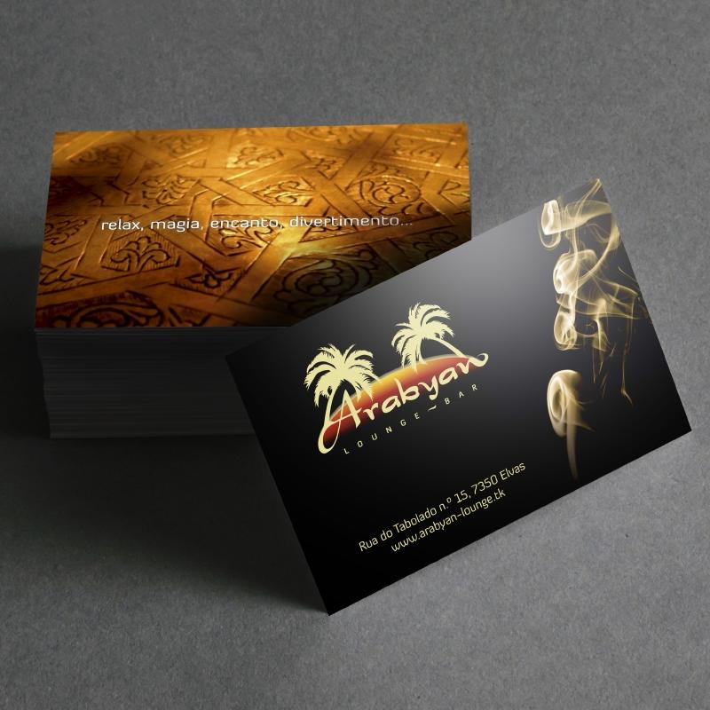 Cartões de Visita Arabyan Lounge Bar
